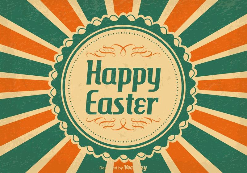 Vintage Happy Easter Illustration - Download Free Vectors, Clipart ...