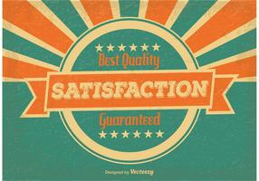 Vintage Satisfaction Guaranteed Illustration
