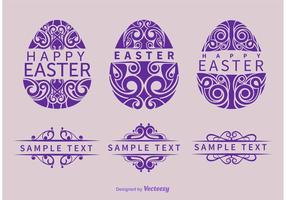 Vectores ornamentales de huevos de Pascua