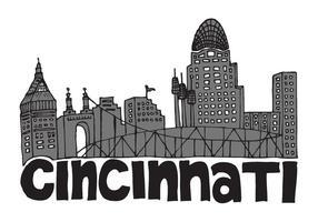 Kostenlose Cincinnati Skyline Vektor