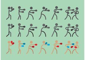 Boxer Sitck Figura Vectores Icono