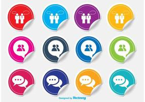 Live Chat Sticker Icons