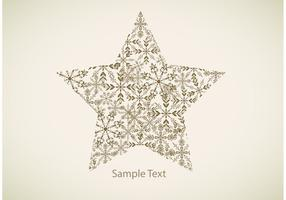 Snowflake Star Vector Background