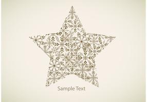 Snowflake Star Vector Bakgrund
