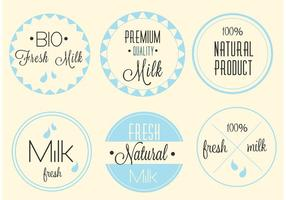 Free Vector Premium Milk Labels