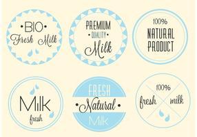 Étiquettes de lait Premium Premium gratuites
