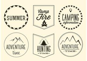 Free-vector-adventure-labels-set