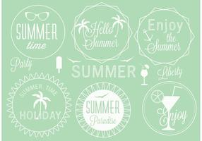 Free Vector Summer Label Set