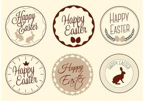 Free Vector Happy Ostern Etiketten