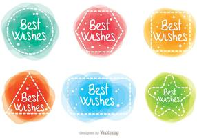 Best Wishes Watercolor Effect Vectors