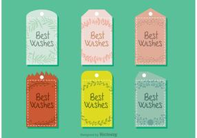 Best Wishes Tag Vectors