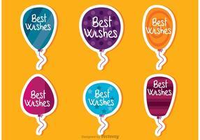 Los mejores deseos globos Vectores
