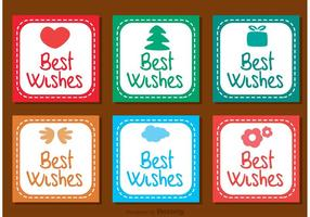 Best Wishes Square Icons Vector