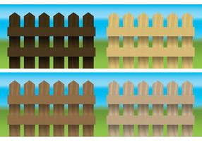 Wood Fences Vector