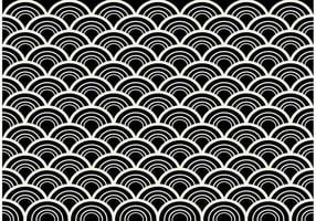Black and White Seamless Abstract Pattern Vector