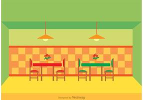 Restaurant Interieur Vector