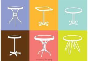 Weiß Tisch Icons Vektor