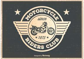 Cavaleiro da motocicleta do vintage poster