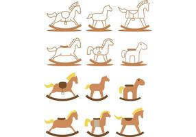 Pack Vector Vector Rocking Horse