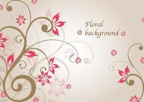 Pink Floral Vector Background