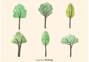 Vattenfärg Trädvektorer