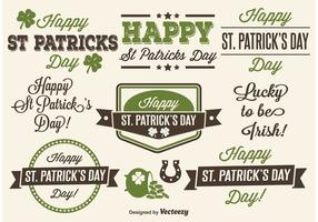 Saint Patrick's Day Typographic labels