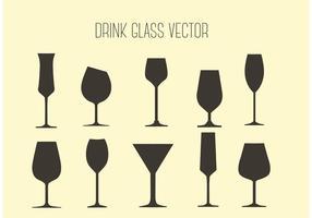 Óculos de bebida de vetores grátis
