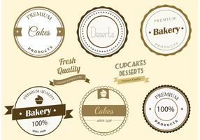 Etiquetas libres de la panadería del vector