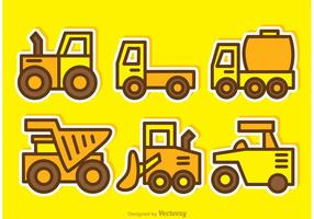 Cartoon Dump Trucks Vectors