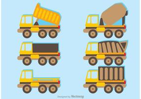 Set of Trucks Vector Pack