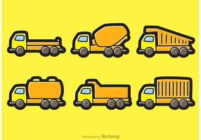 Dump trucks cartoon vectoren