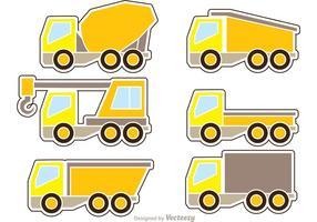 Dump Trucks Icons Vektor