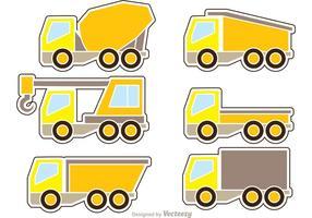 Dump Trucks Icons Vector