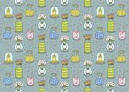 Free Mason Jar Seamless Pattern Vector