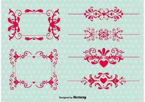 De vintage Vectoren van het Ornament van de Liefde