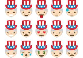 Uncle sam vektor emoticons