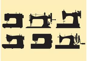 Set Retro Sewing Machine Vectors
