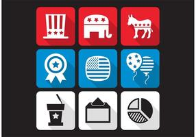 American Elections Vector Icons