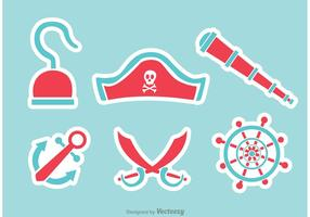 Pirate Flat Icons Vecteurs