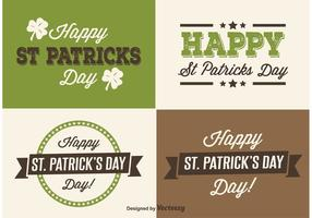 Saint Patricks Day Etiketten