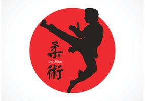 Vector libre Jiu Jitsu Silhouette