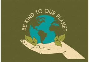 Affiche vectorielle gratuite pour la main de jardinage vecteur