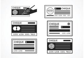Black Blank Check Vector Set