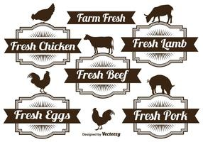 Bauernhof-Etiketten