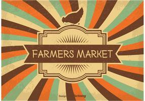Vintage Farmers Markt Illustration