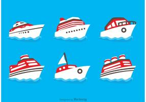 Flat Ship Icons Vektoren