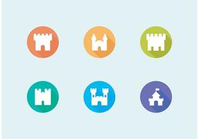 Flat Fort Vector Icons Set frei