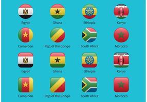 Banderas africanas del vector