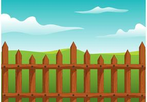 Vettore di legno del recinto di picchetto
