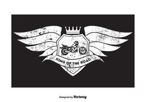 Grunge-Art-Motorrad-T-Shirt Entwurf